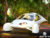 Aptera - All electric - 120 Mile range. Top speed 90mph.
